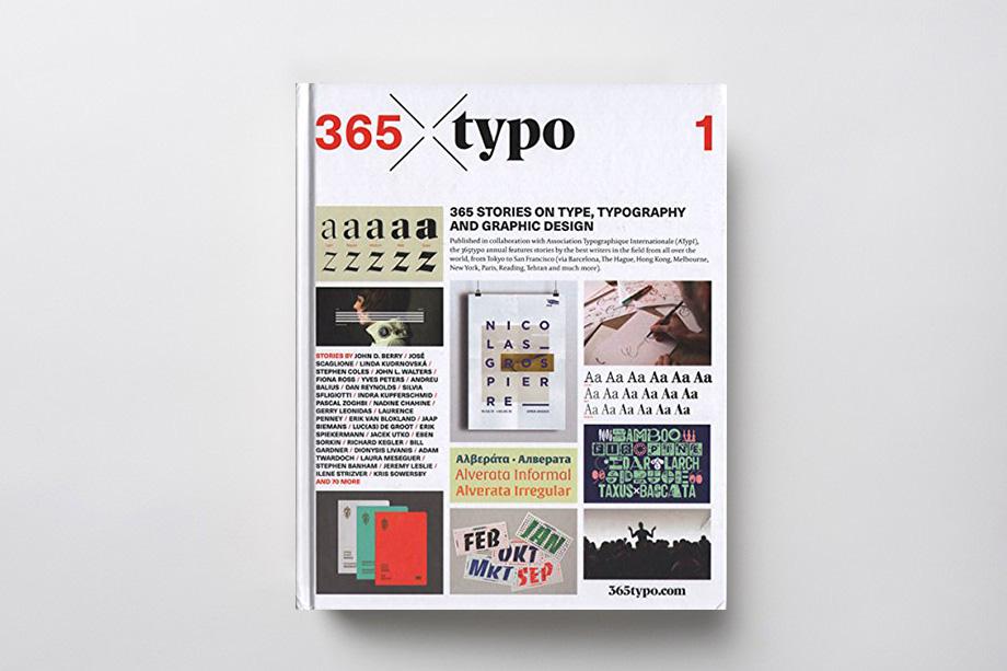 libro sulla tipografia a 365 gradi