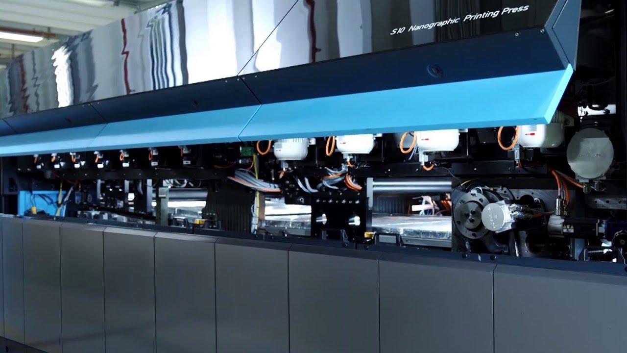 Macchinario stampa digitale landa s10